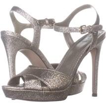 Guess Platform Ankle Strap Sandals 889, Gold Texture, 6 US - $29.75
