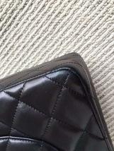 Authentic Chanel Jumbo Double Flap Black Lambskin Silver Hardware Bag image 6