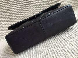 Authentic Chanel Jumbo Double Flap Black Lambskin Silver Hardware Bag image 3