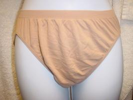Jockey Seamfree Panty 7/Large Dark Buff  SP-Slightly Imperfect Lot of 2 - $13.99