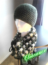 Crochet Olive Green Hat & Cowl Set - ₨1,798.16 INR
