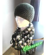 Crochet Olive Green Hat & Cowl Set - $15.00