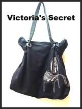 Victoria's Secret Bag Hobo Slouch Black Diaper Bag Shoulder Handles Pink Chair - $24.75