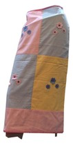 Maxou Gingham Preppy All American Pink Blue Yellow Long Skirt Handmade V... - $39.60