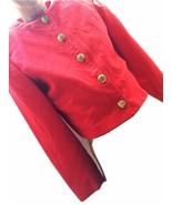 Daniel Niveau Red Bold Short Jacket True Vintage Retro Apparel Women Gol... - $44.55