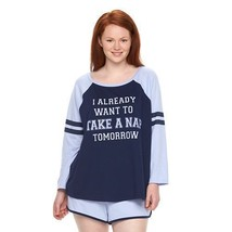 New Womens Plus Size 3X I Already Want To Take A Nap Tomorrow Pajamas Pajama Set - $21.28