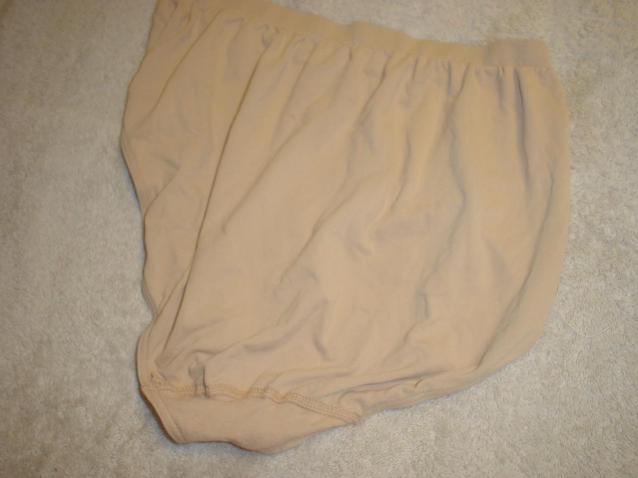 Jockey Seamfree Panty 7/Large Dark Buff  SP-Slightly Imperfect Lot of 2