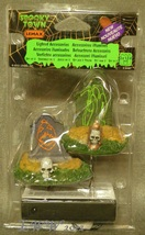Lemax Spooky Town Halloween Backlit Tombstones lighted graves figures set of 2 - $12.99