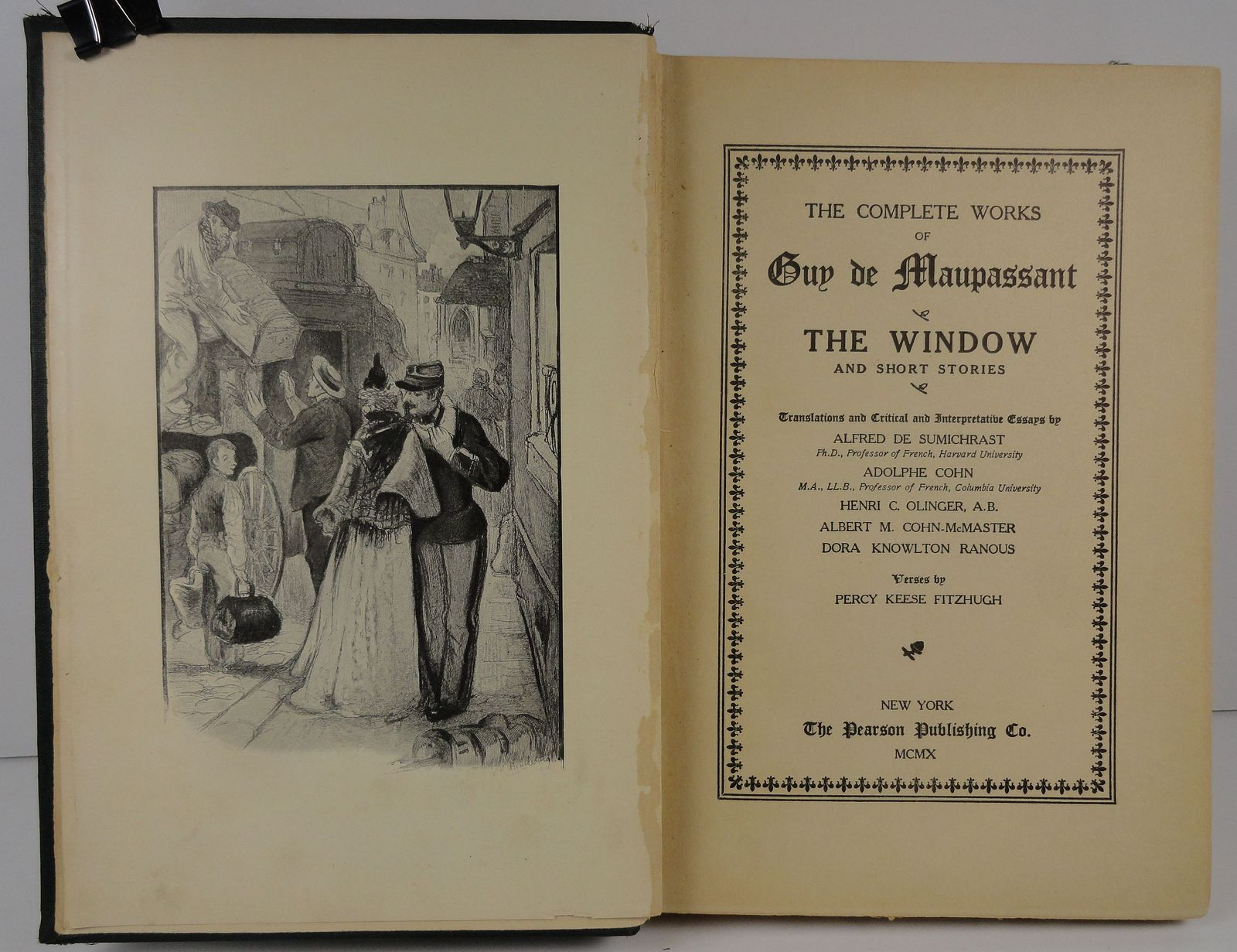 Complete Works of Guy de Maupassant The Window Monsieur Parent