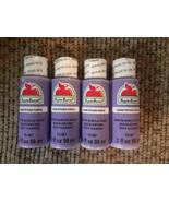 NEW Lot Matte Acrylic Craft Paint Petunia Purple 2 fl. oz. each (8 oz. t... - $17.63