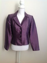 Kay Unger Purple Long Sleeve Jacket Size 8 Cock... - $56.99