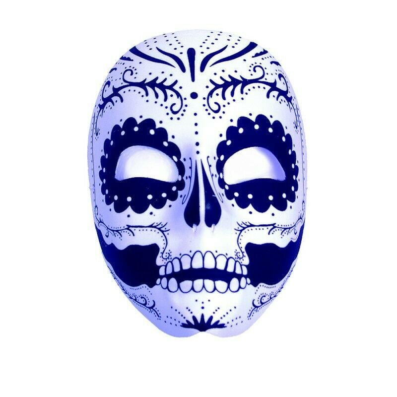 Primary image for Underwraps Day of the Dead Sugar Skull Mask Halloween Costume Accessory 28163