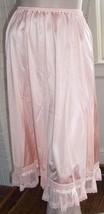 MG  Vanity Fair Pink Half Slip Intricate Lace Flounce Hem Threaded Ribbo... - $29.69