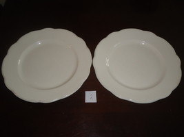 TWO BUFFALO CHINA DINNER PLATES WITH SCALLOPED RIM - White Hotel Diner 9u0026quot; - $12.50 & Two White Buffalo China Dinner Plates With and 32 similar items