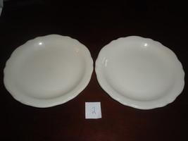 TWO WHITE HOMER LAUGHLIN BEST CHINA DESERT / BR... - $19.99