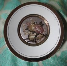 Vintage Asian Plate Cart with Flowers Art of Chokin 7 3/4 inch diameter ... - $9.49