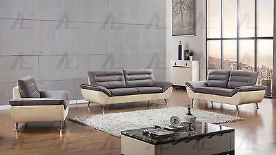American Eagle AE-2365 Gray and Yellow Sofa Set 3pcs in Modern Style