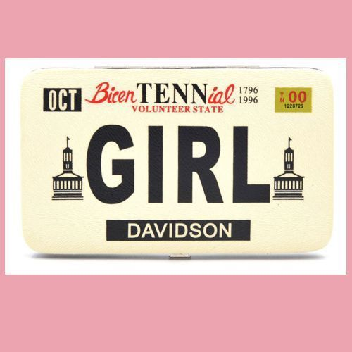 Tennessee Girl Wallet - Pink License Plate  NEW
