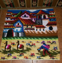 The good Shepherd Handwoven tapestry Andes Wall Hanging - $135.00