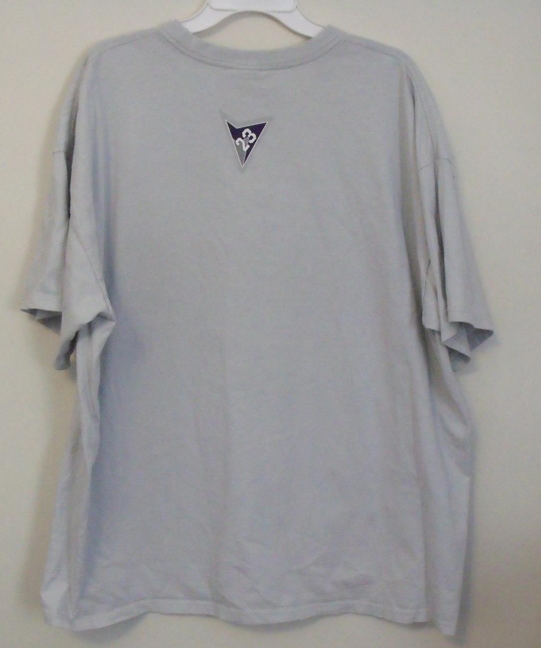 Mens Gray Michael Jordan Short Sleeve T Shirt Size XXL