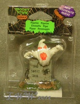 Lemax Spooky Town Halloween Ghost Grave Tomb Sweet Tomb Figure Rats - $4.49