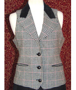 INTERNATIONAL SCENE VINTAGE herringbone vest w/suede 9/10 (T42-0DA8G) - $32.65