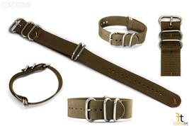 20mm Fits Luminox Nylon Woven Dark Beige Watch Band Strap 4 S/S Rings - $18.95