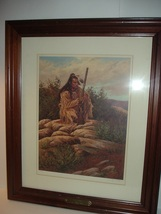 John De Mott The Scout Signed and Numbered Framed Print - $99.99