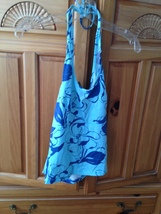 women's blue printed halter top by Rusty size large - $19.99