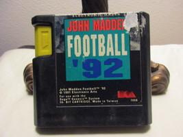 JOHN MADDEN FOTTBALL '92--SEGA GENESIS - $4.99