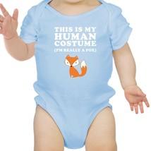 This Is My Human Costume Fox Baby Sky Blue Bodysuit - $13.99
