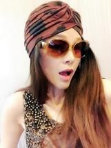 Brown Black Dot Turban,Womens Turban,Full Turban,Turban Headband,Turban Hat - $10.99