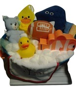 Boy Baby Bath Gift Basket - Baby Shower Idea for Boy - New Baby Gift for... - $59.99