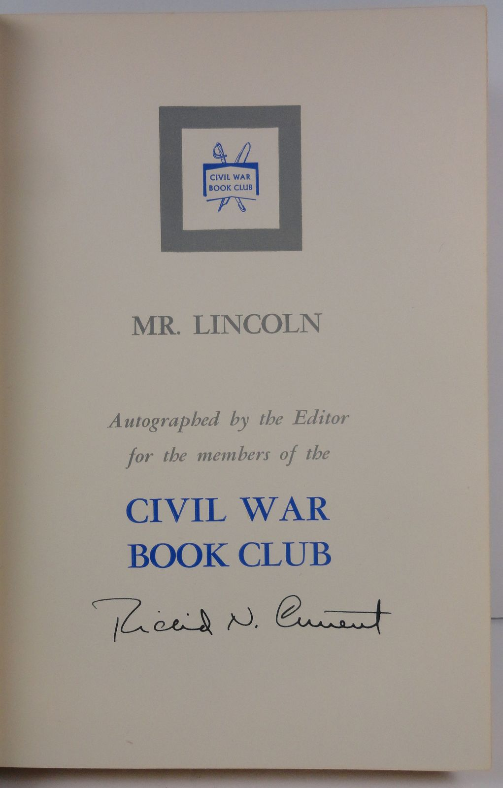 Mr. Lincoln by J. G. Randall 1957 Dodd, Mead