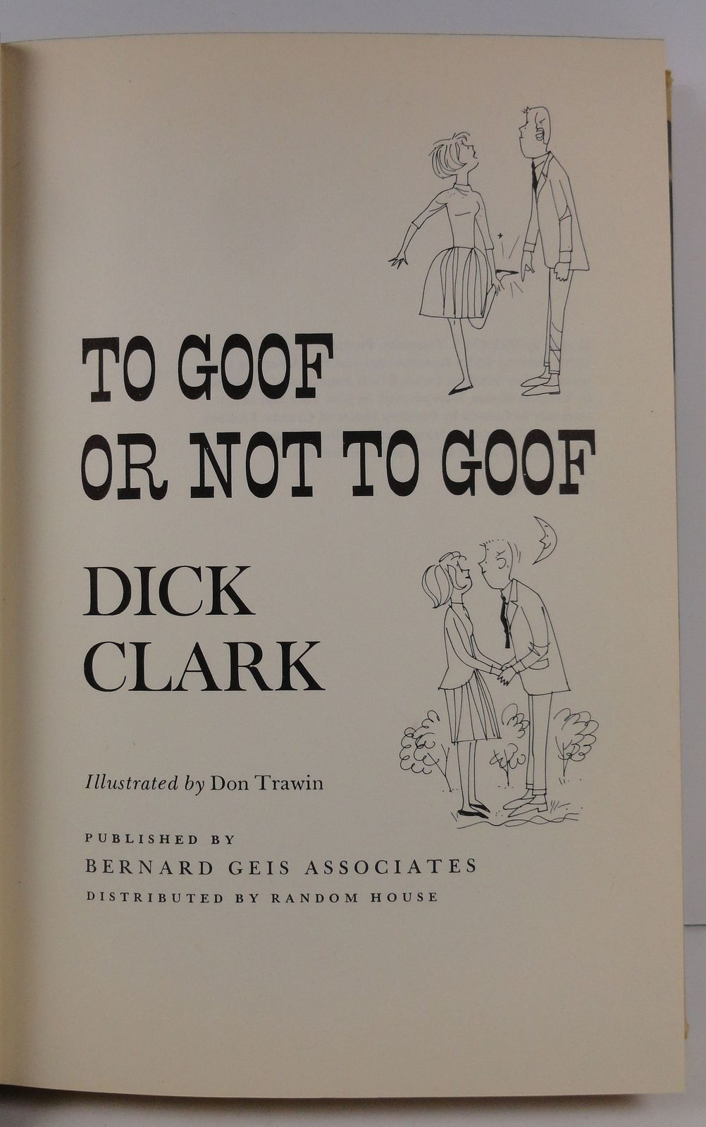 To Goof or Not to Goof by Dick Clark 1963 HC/DJ