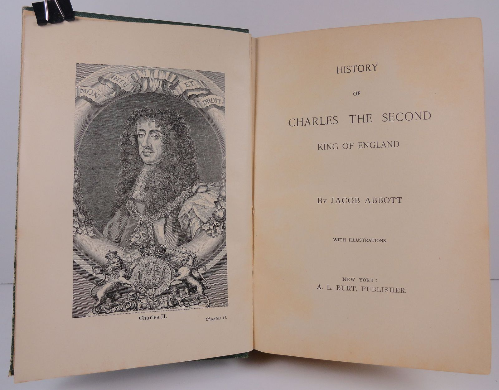 History of Charles the Second King of England by Jacob Abbot