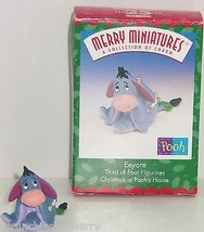 Disney Eeyore Hallmark Merry Miniatures Ornament 1999 Vintage Pooh Boxed - $29.95