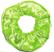 Lime Green Panne Hair Scrunchie Scrunchies by Sherry Ponytail Holder Tie - $6.99
