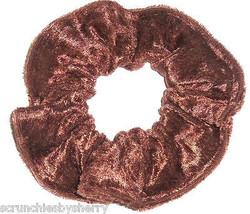 Light Brown Panne Velvet Hair Scrunchie Scrunchies by Sherry Ponytail Ho... - $6.99
