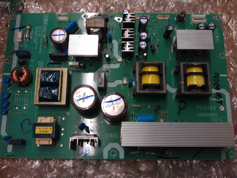 75008953 PE0450C Power Supply Board From Toshiba 42HL67US LCD TV