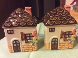 Enesco Cottage in the Sun Salt & Pepper Shakers 1979 - $7.69