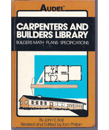 Audels Carpenters and Builders Library Buliders Math, Plans, Specifications - $8.00