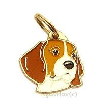 Pet ID tag Beagle, engraved - $17.90