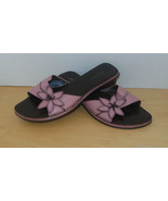 Vintage Ladies St John's Bay Sz 8 Slip On Shoe Pink-Flower-Beach-Open To... - $1.50
