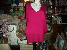 Anthropologie People Like Frank Dashing Blood Red Blouse Size L - $20.79