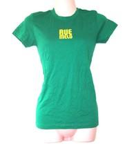 rue melo brand NEW never worn green yellow band tee shirt t-shirt size s... - $19.79