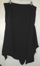 plus size lane bryant pink black asymmetric striped skirt 20 2x extra la... - $24.74