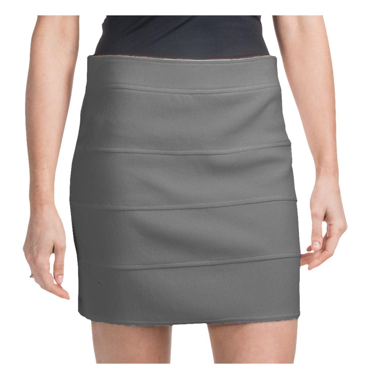 plus size new york co grey gray bodycon bandage stretch mini skirt 12 xl large - $24.74