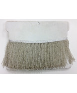 "1 Yard 6.5"" Silver Glass Seed Bead Beaded Fringe Lamp Lampshade Costume ... - $16.99"