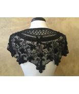 Sequin Beaded Hip Wrap or Collar Shoulder Shrug Shawl Applique Black - $34.99